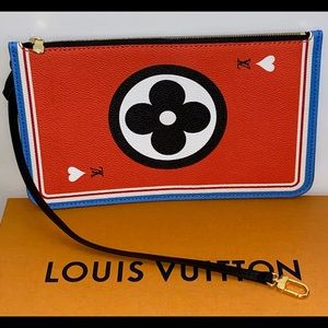Louis Vuitton Neverfull Pouch/wristlet Game on